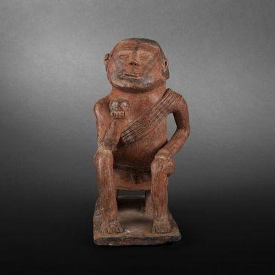 Expertissim - Objet d'art précolombien-Expertissim-Coquero en céramique. Carchi