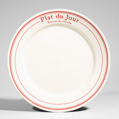 Maisons du monde - Assiette plate-Maisons du monde-Assiette plate Bistrot rouge