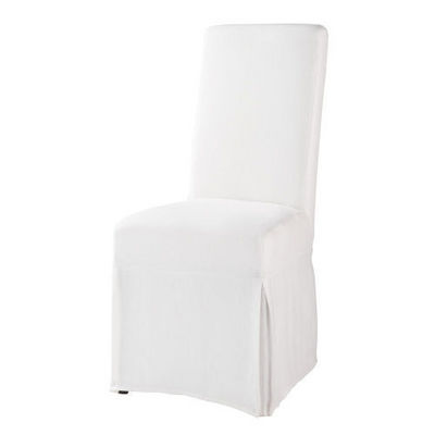 Maisons du monde - Housse de chaise-Maisons du monde-Housse de chaise blanche lin Margaux