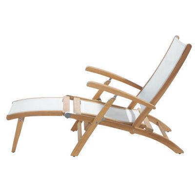 Maisons du monde - Chaise longue de jardin-Maisons du monde-Chaise longue blanche Capri