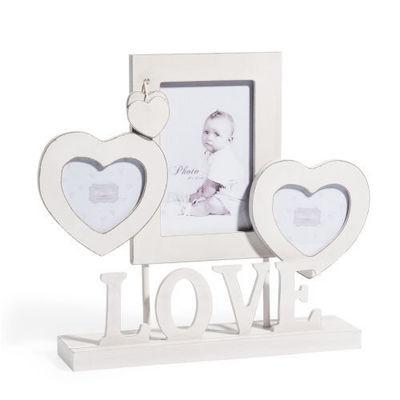 cadre poser blanc love cadre photo enfant maisons du monde. Black Bedroom Furniture Sets. Home Design Ideas