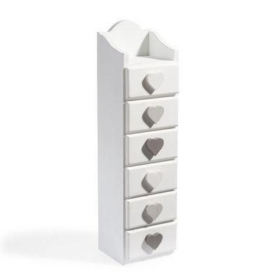 Bo te de rangement demeure 6 tiroirs colonne de - Boite de rangement maison du monde ...