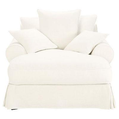 Maisons du monde - Fauteuil-Maisons du monde-Méridienne lin blanc Bastide