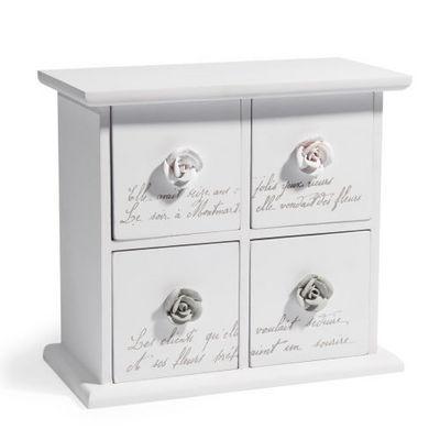 Maisons du monde - Coffret � bijoux-Maisons du monde-Bo�te 4 tiroirs Rosa