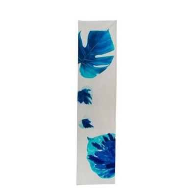 TROIS MAISON - Chemin de table-TROIS MAISON-CHEMIN DE TABLE FEUILLE bleue