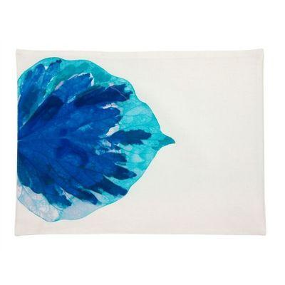 TROIS MAISON - Set de table-TROIS MAISON-SET DE TABLE mod�le FEUILLE bleue