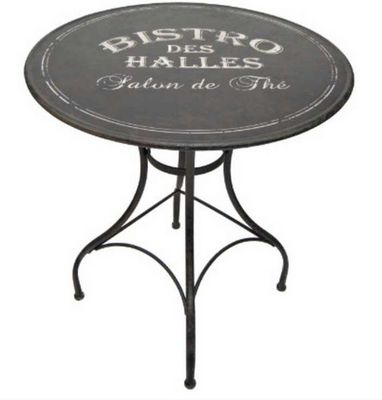 Antic Line Creations - Table de jardin-Antic Line Creations-Table ronde en métal bistro des halles 76x72cm
