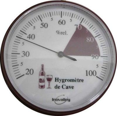 Inovalley S.A.S. - Hygromètre-Inovalley S.A.S.-Thermomètre hygromètre de cave de 20 à 100%