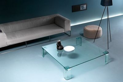 Fiam - Table basse forme originale-Fiam-newton tavolino