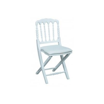 DECO PRIVE - Chaise pliante-DECO PRIVE-Chaise Napoleon III blanche pliante