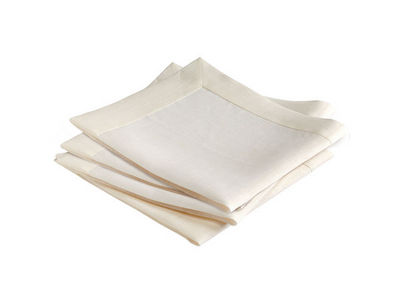 BLANC CERISE - Serviette de table-BLANC CERISE-Lot de 4 serviettes de table - lin traité déperlan