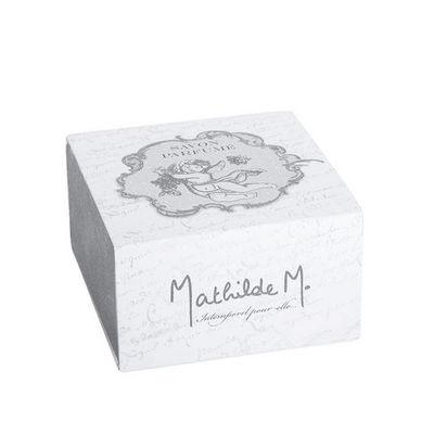 Mathilde M - Savon-Mathilde M-Boîte Savon rond Ange, parfum Fleur de Dentelle