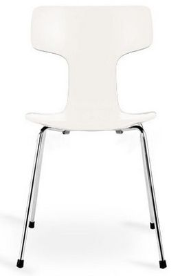 Arne Jacobsen - Chaise r�ception-Arne Jacobsen-Chaise 3103 Arne Jacobsen ecru Lot de 4