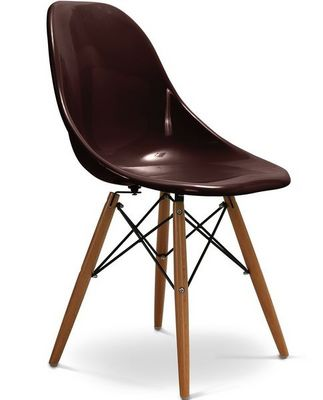 Charles & Ray Eames - Chaise réception-Charles & Ray Eames-Chaise chocolat design Eiffel SW Charles Eames Lot
