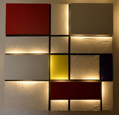 EVANATOSKY CREATION - Tableau lumineux-EVANATOSKY CREATION-Mondrian