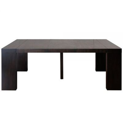 WHITE LABEL - Table de repas rectangulaire-WHITE LABEL-Table console extensible 3 rallonges Melton