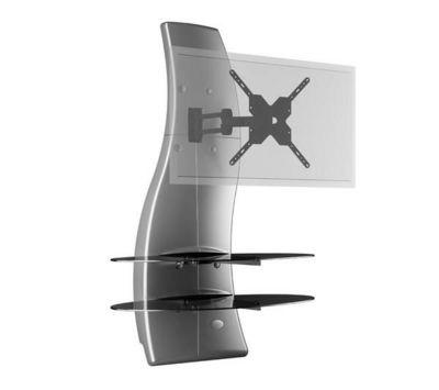 Meliconi - Support d'écran-Meliconi-Meuble mural orientable Ghost Design 2000 DR - sil