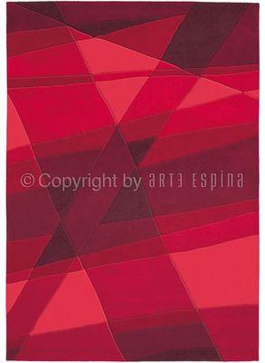Arte Espina - Tapis contemporain-Arte Espina-Tapis de petit tapis LUMINOUS Rouge 90x160 en Acry