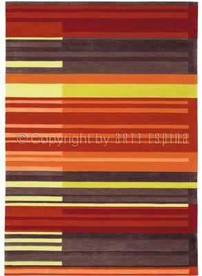 Arte Espina - Tapis contemporain-Arte Espina-Tapis de petit tapis COLOUR CODES rouge 90x160 en
