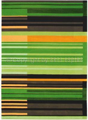 Arte Espina - Tapis contemporain-Arte Espina-Tapis de salon COLOUR CODES vert 170x240 en Acryli