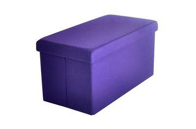 IKKO Home Design - Malle-IKKO Home Design-Pouf Coffre pliant violet SUNNY