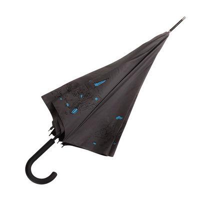 WHITE LABEL - Parapluie-WHITE LABEL-Parapluie droit Femme manche canne en caoutchouc m