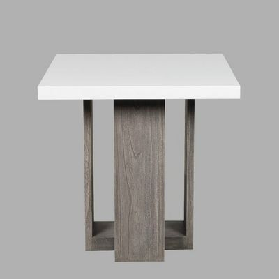 BLANC D'IVOIRE - Table de repas carrée-BLANC D'IVOIRE-TANIA