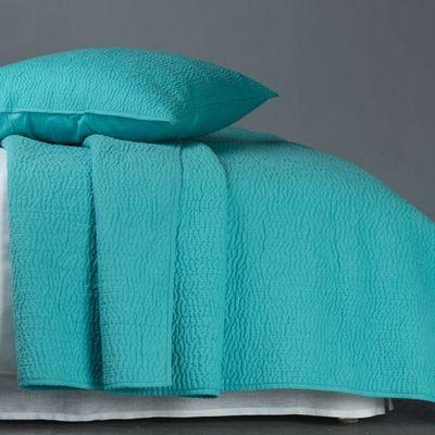 BLANC D'IVOIRE - Couvre-lit-BLANC D'IVOIRE-CESAR Turquoise