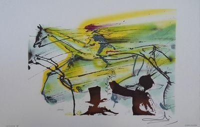 ARMAND ISRAËL - Lithographie-ARMAND ISRAËL-Le cheval de course de Salvador DALI lit