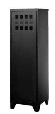 PHSA - Armoire-dressing-PHSA-Armoire 1 porte en métal noir 40x40x134cm