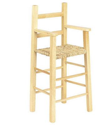 Aubry-Gaspard - Chaise haute enfant-Aubry-Gaspard-Chaise haute pour enfant en h�tre et roseau