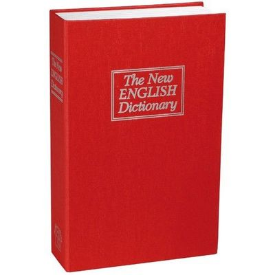 La Chaise Longue - Boite de rangement-La Chaise Longue-Coffre fort imitation dictionnaire anglais rouge 1