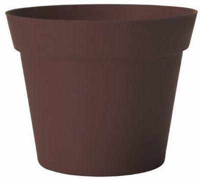 MARC VERDE - Cache-pot-MARC VERDE-Pot déco chocolat en bambou et résine 19x17cm