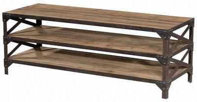 INWOOD - Meuble tv hi fi-INWOOD-Meuble télé fabbrica 3 niveaux en bois et métal 14