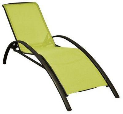 PROLOISIRS - Chaise longue de jardin-PROLOISIRS-Lit de jardin Sartene en aluminium et textilène Li