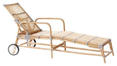 Sika design - Chaise longue de jardin-Sika design-Bain de soleil réglable Joséphine 33x161x73cm