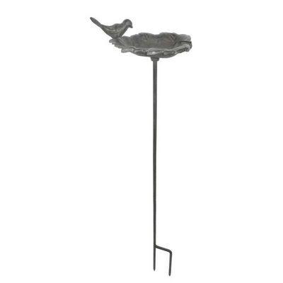 Aubry-Gaspard - Bain d'oiseau-Aubry-Gaspard-Bain oiseaux à planter en fonte 16,5x15x79cm