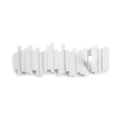 Umbra - Portemanteau-Umbra-Porte manteaux mural sticks blanc 5 crochets