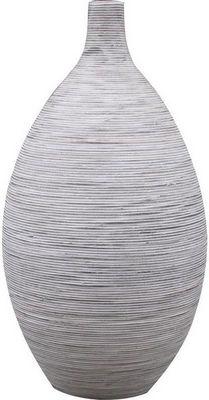 Aubry-Gaspard - Soliflore-Aubry-Gaspard-Vase amphore en rotin blanc