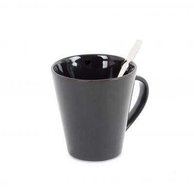 Balvi - Tasse � caf�-Balvi-Tasse�&�cuill�re Cofix noir c�ramique