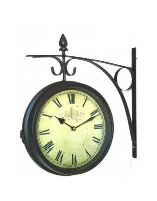 L'HERITIER DU TEMPS - Horloge murale-L'HERITIER DU TEMPS-Horloge Double Face Style Brocante 28cm