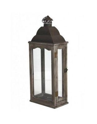 L'HERITIER DU TEMPS - Lanterne d'extérieur-L'HERITIER DU TEMPS-Lanterne fer et bois