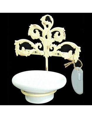 L'HERITIER DU TEMPS - Porte-savon à poser-L'HERITIER DU TEMPS-Porte Savon Fer et Céramique