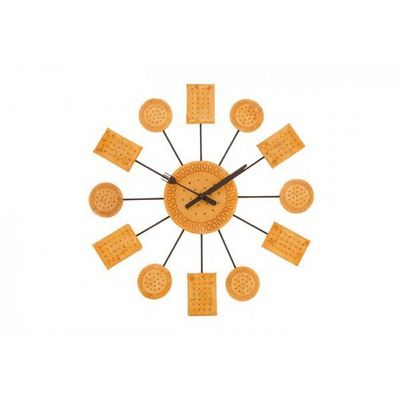 INVOTIS - Pendule murale-INVOTIS-Horloge murale Biscuit