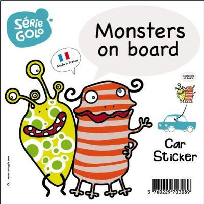 SERIE GOLO - Sticker-SERIE GOLO-Sticker de voiture Monstres à bord