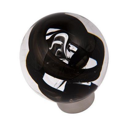 Les Verreries De Brehat - Bouton de porte-Les Verreries De Brehat-Tubes de bulles sph�rique noir