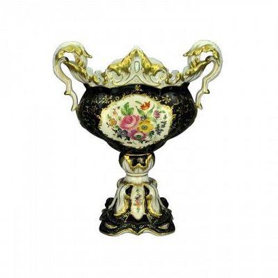 Demeure et Jardin - Coupe d�corative-Demeure et Jardin-Coupe mont�e Napol�on III noire