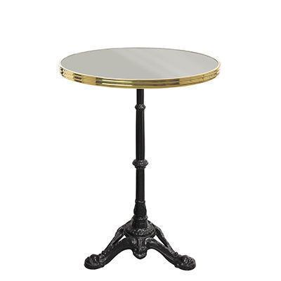 Ardamez - Table bistrot-Ardamez-Table de bistrot �maill�e gris / laiton / fonte
