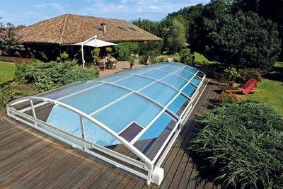 Abrideal - Abri de piscine bas coulissant ou t�lescopique-Abrideal