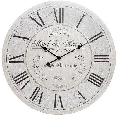 Antic Line Creations - Horloge murale-Antic Line Creations-Pendule en bois Hôtel des artistes